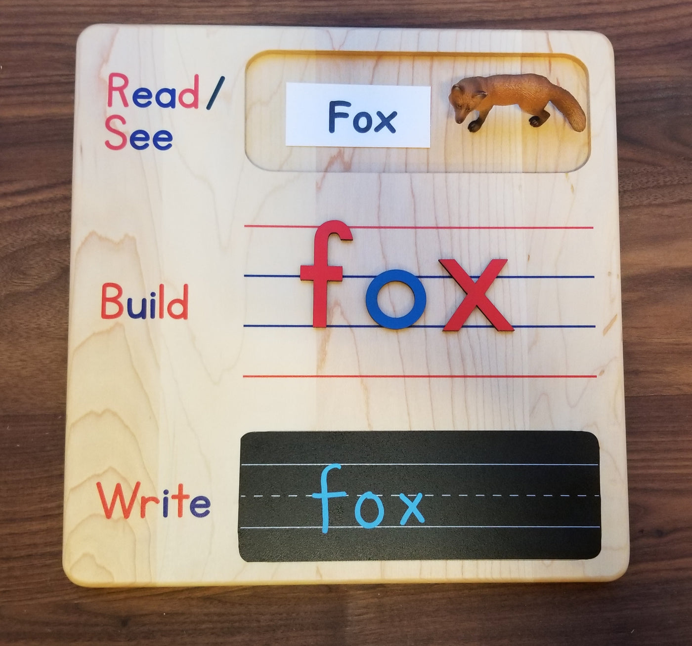 Read build write board - spelling board - writing board - CVC word building mat - language kindergarten