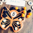 Butterfly ten frame, Montessori ten frame, spring ten board, Math manipulatives, kindergarten toy, educational toy