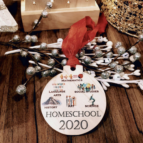 Homeschooling ornament - 2020 ornament - Christmas ornament