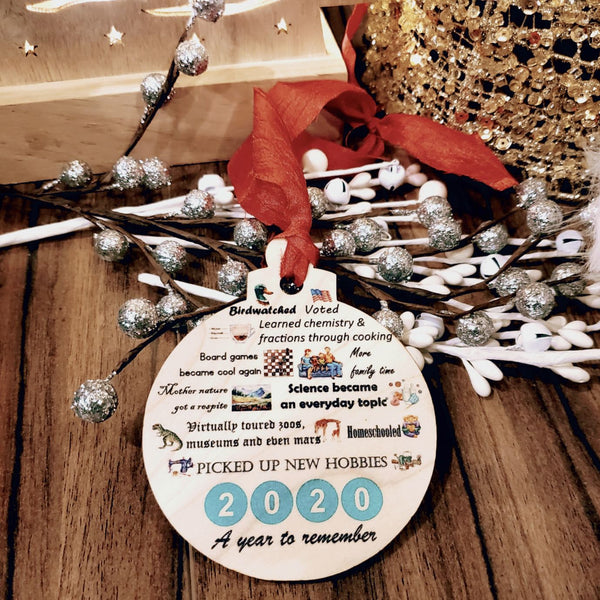2020 Ornament - Christmas ornament 2020 - Positivie things ornaments - Covid ornament