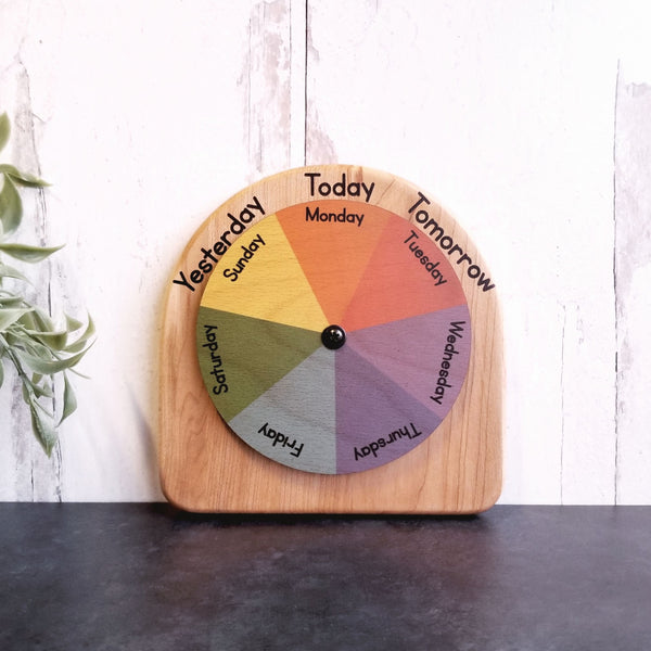 Days of the week wheel - Circle time calendar