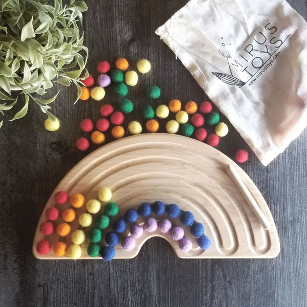 Rainbow counting board - color sorting - Rainbow tracing board - breathing board - peace corner