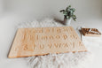 Alphabet tracing board with guided arrows, Regular print font, all natural wood, educational toys