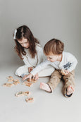 Wooden puzzle, farm mother and baby