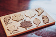 Natural Wood Toy - Leaf puzzle, Montessori puzzle, Christmas gift, wooden puzzle, stem toy