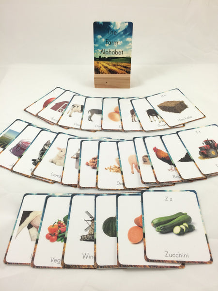 Farm alphabet cards, flash cards, classroom decor, classroom wall art