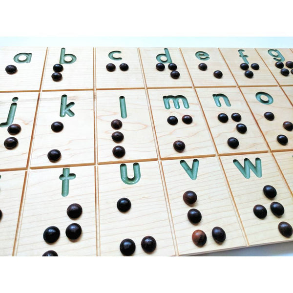 Braille alphabet board - braille cards - braille art - braille gift - Braille Wall Panel
