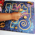 Prewriting maze - form drawing - finger maze - marble maze - space gift - Christmas gift - stem toy