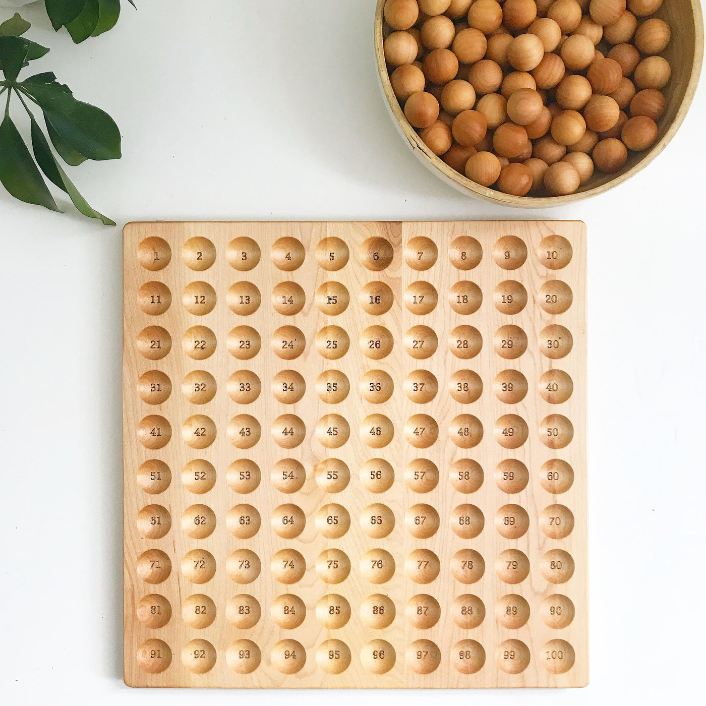 Hundred board - hundred frame - 100 board - counting board - Montessori toy - math manipulative