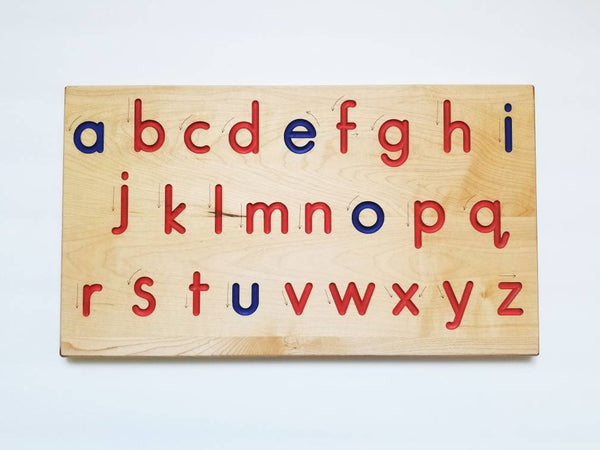 Alphabet tracing board - Wooden print alphabet tracing board - printed tracing board - alphabet tracers- tracing alphabet
