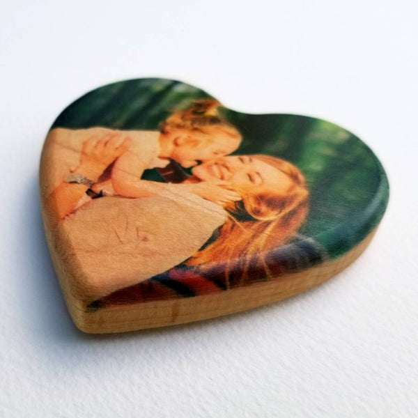 Wooden heart keepsake - wooden photo heart - Valentine's day gift - anniversary gift -kids valentine - wedding favor - 5th Anniversary gift