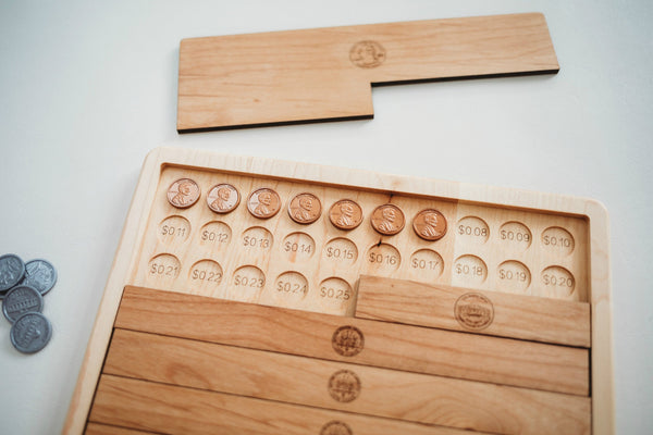 Dollar counting board - montessori money material