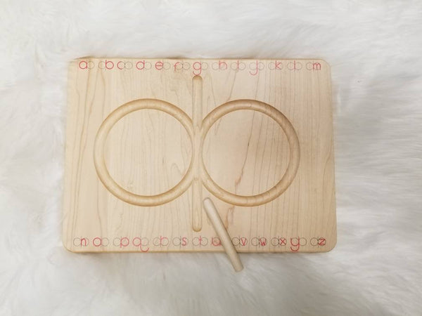 Alphabet 8 board - dysgraphia writing board - alphabet tracing board - lazy 8s - handwriting board