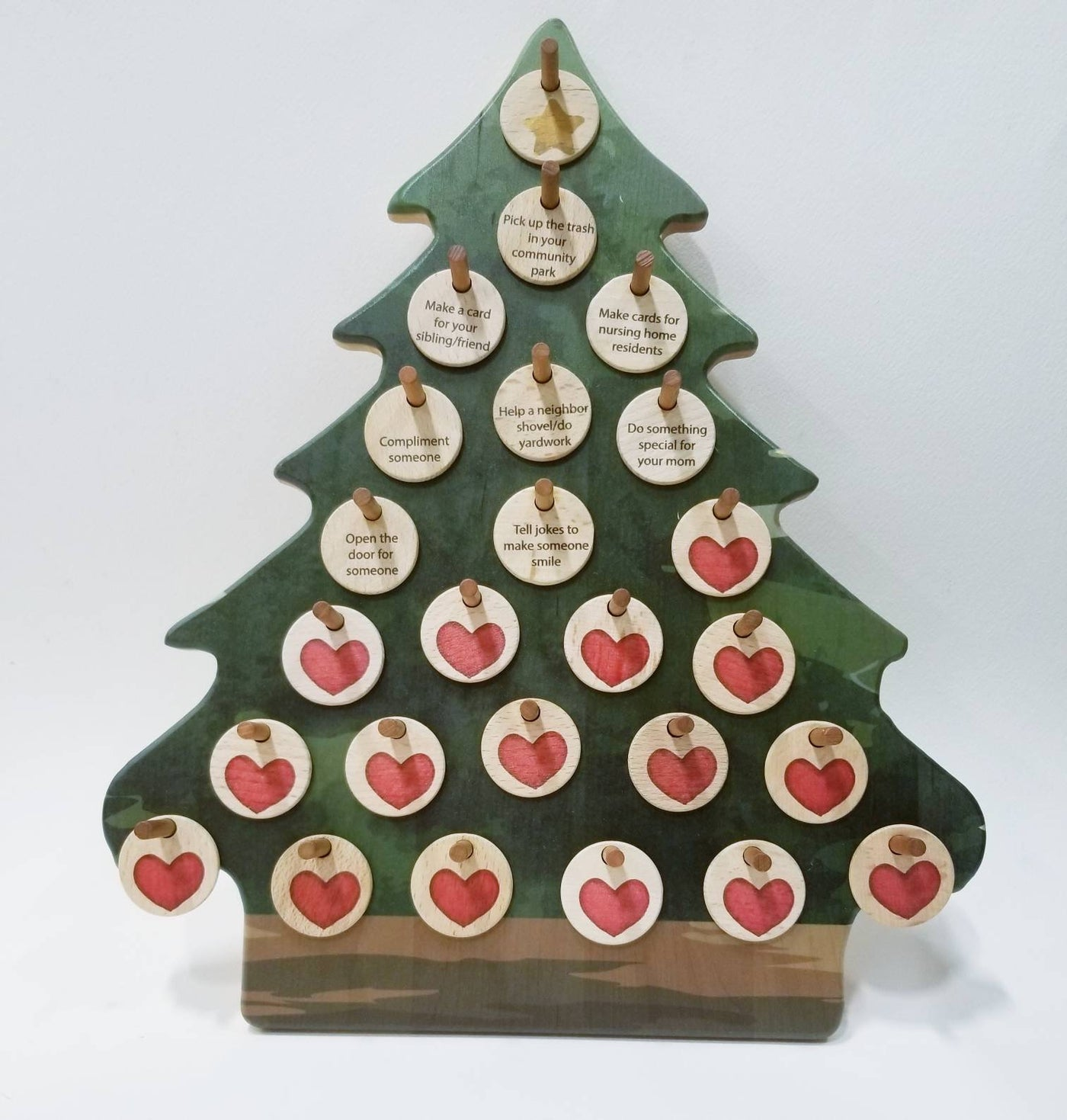 Advent calendar - kindness calendar - acts of kindness - Christmas tree
