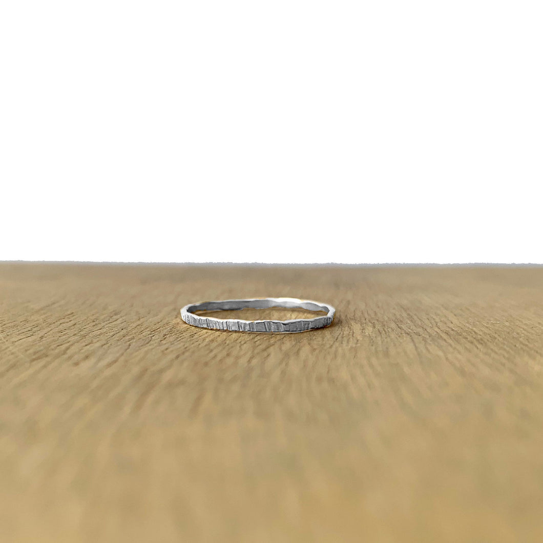 Build Your Own Ring - Stacking - Hammered Rippled Texture