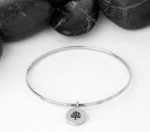 "Build Your Own Bracelet - Bangle - 1/2"" Charm"