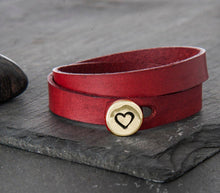 "Load image into Gallery viewer, Build Your Own Leather Wrap Bracelet - 1/2"" Charm"