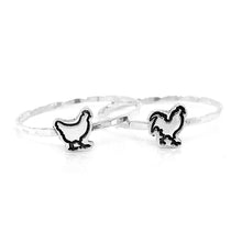 Load image into Gallery viewer, Charm Cut Out Stacking Ring, Bunny