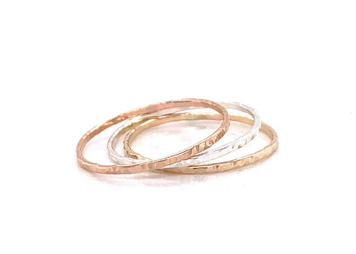 Triple Ripple Stacking Ring Set