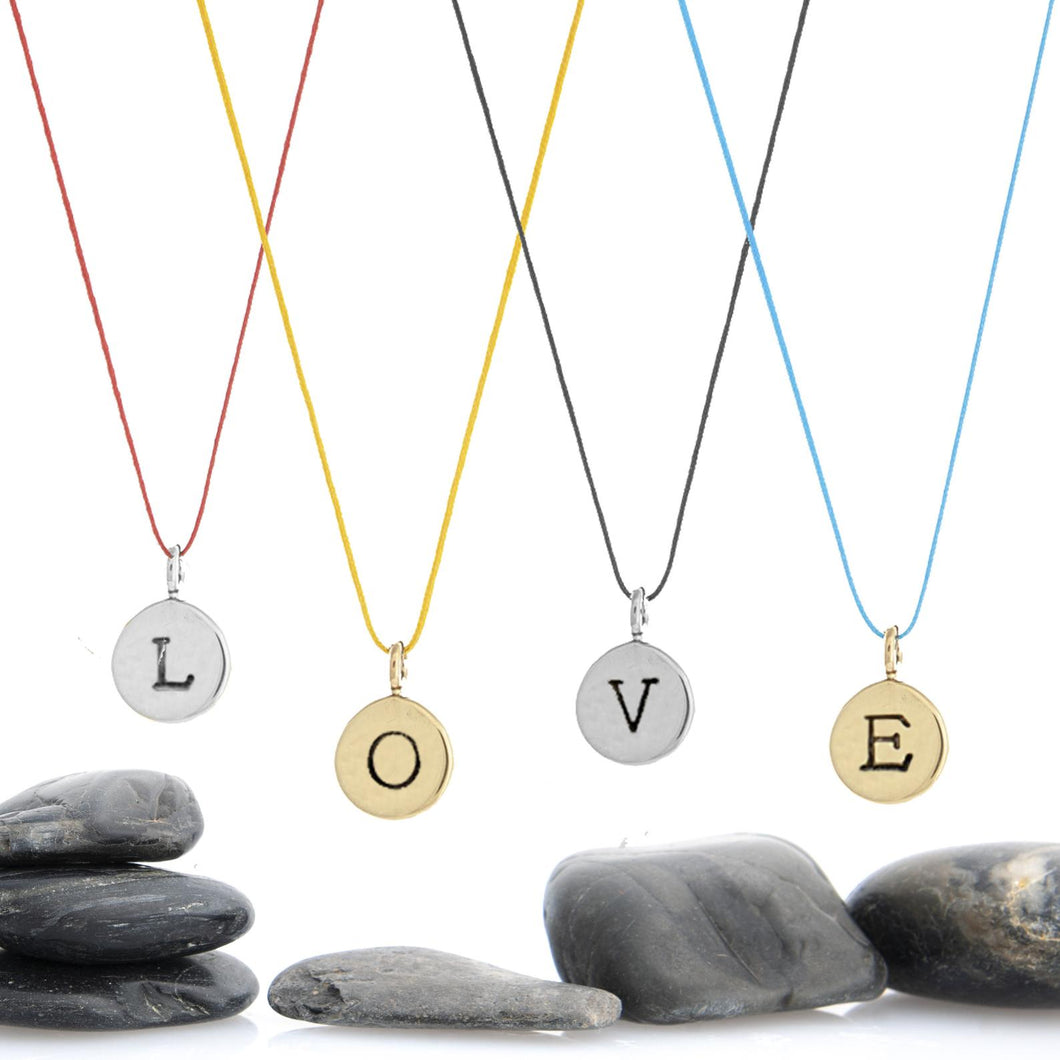 Build Your Own Letter Charm Necklace - 1/3