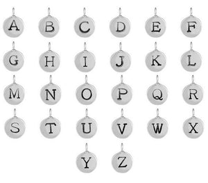 "Build Your Own Letter Charm Necklace - 1/3"" Charm on Cord"