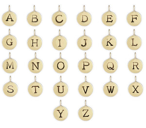 "Build Your Own Sliding Letter Charm Necklace- 1/3"" Charm"