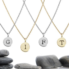 "Load image into Gallery viewer, Build Your Own Sliding Letter Charm Necklace- 1/3"" Charm"