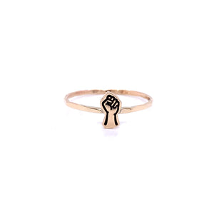 Charm Cut Out Stacking Ring, Raised Fist