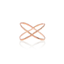 Load image into Gallery viewer, Build Your Own Ring - Hammered Criss Cross