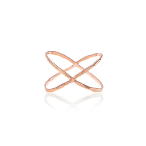 Build Your Own Ring - Hammered Criss Cross
