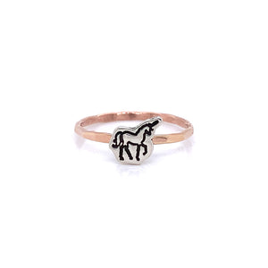 Unicorn Charm Cut Out Ring