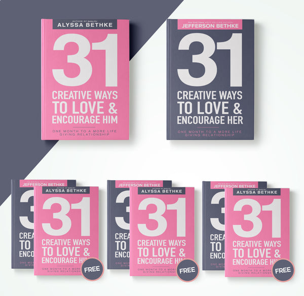 31 Creative Ways To Love And Encourage Him & Her (buy ONE bundle, get THREE for free)