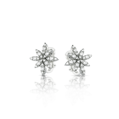18k White Gold Ghirlanda Classics Earrings with Diamonds
