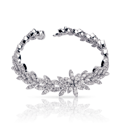 18k White Gold Ghirlanda Bracelet with Diamonds