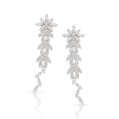 18k White Gold Ghirlanda Earrings with Diamonds