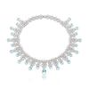 18k White Gold Ghirlanda Necklace with Aquamarine and Diamonds