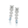 18k White Gold Ghirlanda Atelier Earrings with Aquamarine and Diamonds