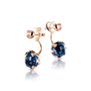 18k Rose Gold Sissi Earrings with London Blue Topaz and Diamonds