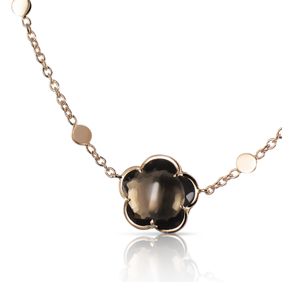 18k Rose Gold Bon Ton Necklace with Smoky Quartz