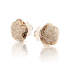 18k Rose Gold Bon Ton Earrings with Champagne Diamonds