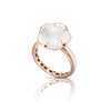 18k Rose Gold Bon Ton Ring with Milky Quartz