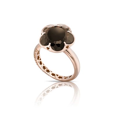 18k Rose Gold Bon Ton Ring with Smoky Quartz