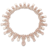 18k Rose Gold Ghirlanda Necklace with Rose Quartz, Moonstone and Diamonds