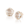 18k Rose Gold Bon Ton Earrings with Rock Crystal and Champagne Diamonds