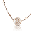 18k Rose Gold Bon Ton Necklace with Rock Crystal and Champagne Diamonds