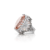 18k White Gold Ghirlanda Atelier Ring with Morganite, White and Grey Diamonds