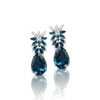 18k White Gold Ghirlanda Earrings with London Blue Topaz and Diamonds