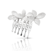 White gold comb with diamonds