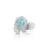 18k White Gold Giardini Segreti Atelier Ring with Paraiba Tourmaline and Diamonds