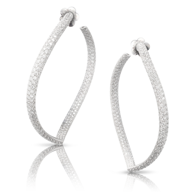 18k White Gold Sensual Touch Earrings with Diamonds